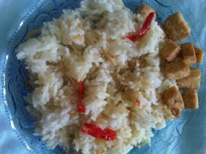 nasi liwet ikan asin