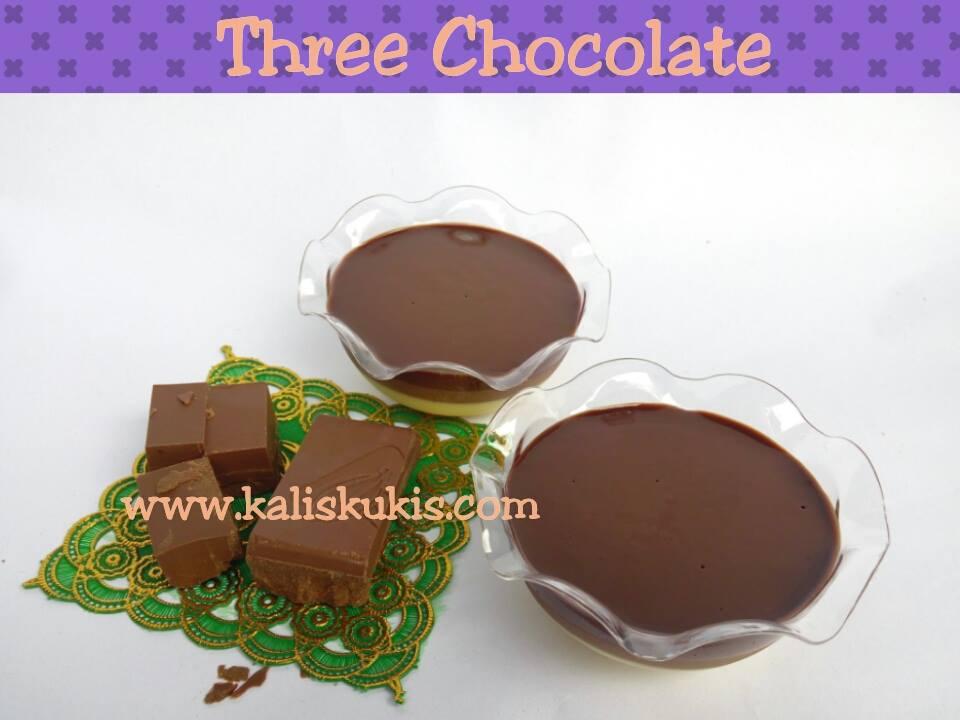 three chocolate