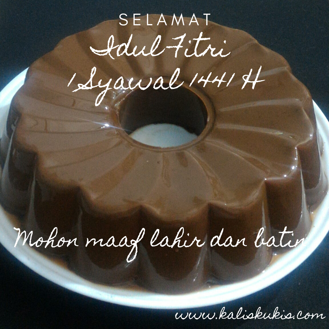 Puding Cokelat Favoritku (Selamat Hari Raya Idul Fitri